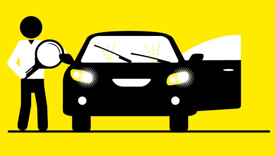 autotrack illustratie auto
