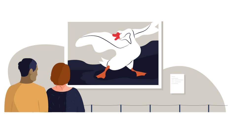 esprit scholen illustratie museum